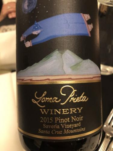 Loma Prieta - Saveria Vineyard Pinot Noir - 2015