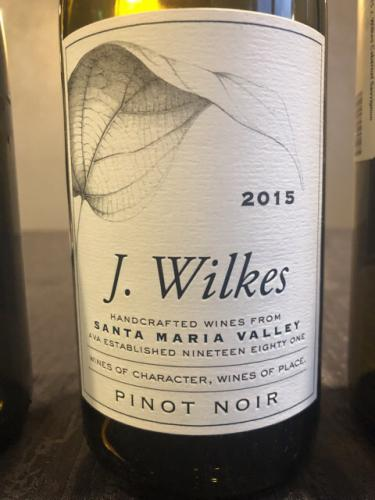 J. Wilkes - Pinot Noir - 2015