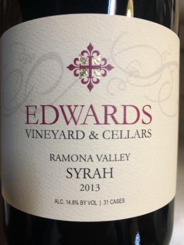 Edwards Vineyard & Cellars - Ramona Valley Syrah - 2013