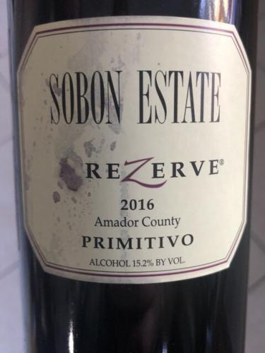 Sobon Estate - Rezerve Primitivo - 2016