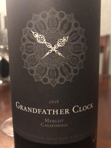 GrandFather - Clock Merlot - 2016