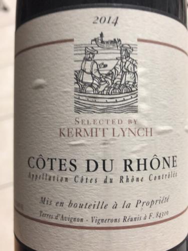 Terres d'Avignon - Kermit Lynch Côtes du Rhône - 2014