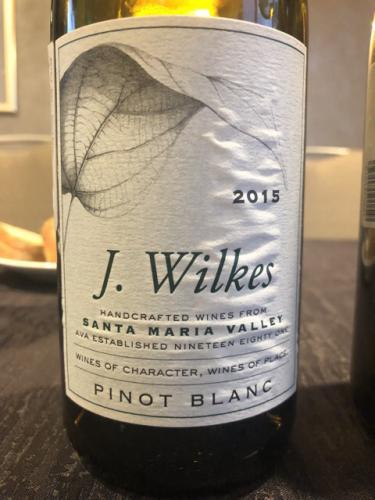 J. Wilkes - Pinot Blanc - 2015