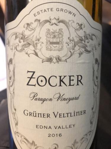 Zocker - Paragon Vineyard Grüner Veltliner - 2016