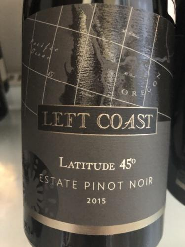 Left Coast Cellars - Latitude 45° Pinot Noir - 2015