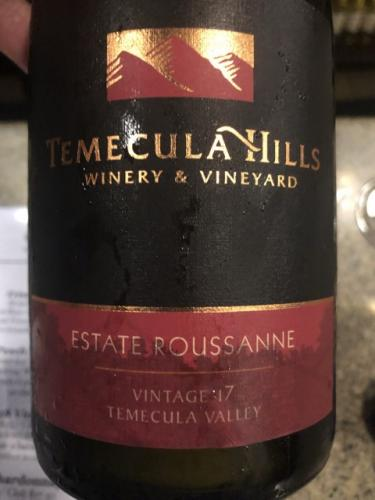 Temecula Hills - Roussanne - 2012