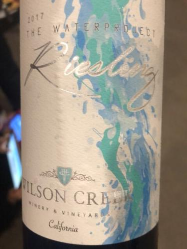 Wilson Creek - The Water Project Riesling - 2016