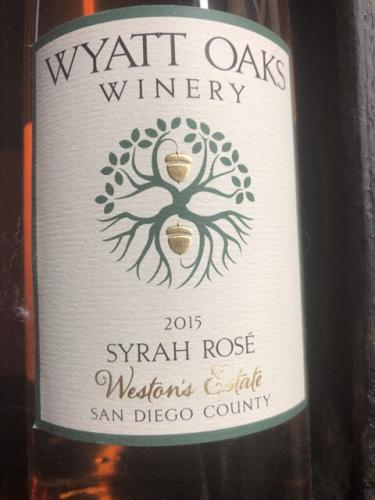 Wyatt Oaks Winery - Weston's Estate Syrah Rosé - 2015