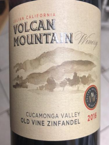 Volcan Mountain Winery - Old Vine Zinfandel - 2016