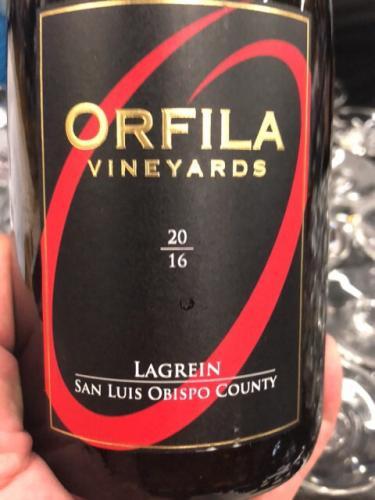 Orfila Vineyards - Lagrein - 2016