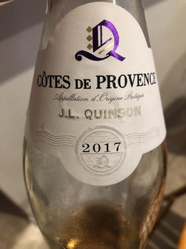 J. L. Quinson - Côtes de Provence Rosé - 2017