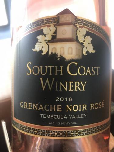 South Coast Winery - Grenache Noir Rosé - 2018