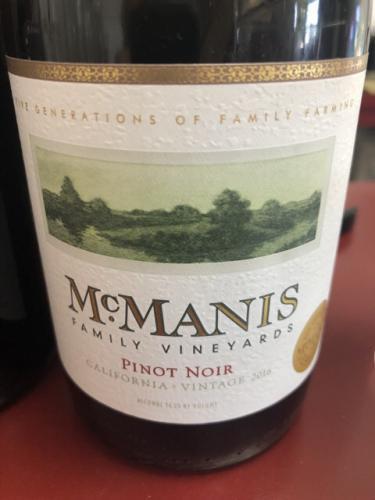 McManis - Pinot Noir - 2014