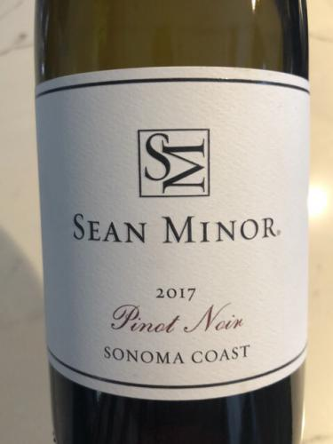 Sean Minor - Sonoma Coast Pinot Noir - 2017