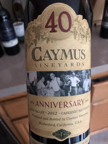 Caymus - 40th Anniversary Cabernet Sauvignon - 2012