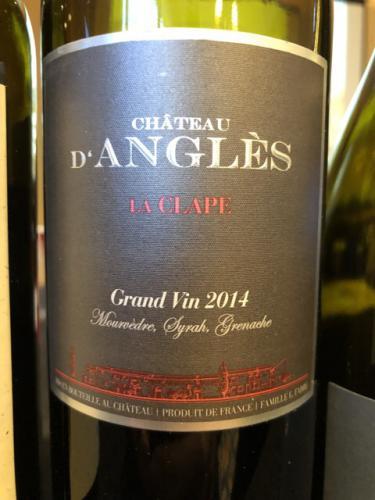 Château d'Anglès - La Clape (Grand Vin) Rouge - 2014