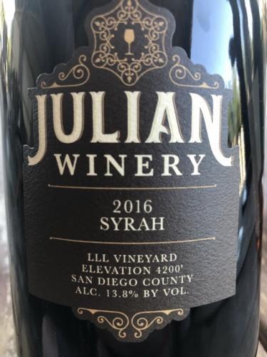 Julian Winery - Syrah - 2016