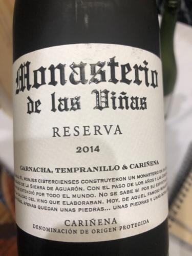 Monasterio de Las Vinas - Reserva - 2014