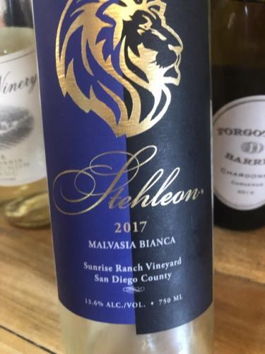 Stehleon - Sunrise Ranch Vineyards Malvasia Bianca - 2017
