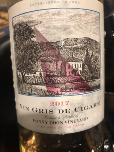 Bonny Doon - Vin Gris de Cigare - 2017