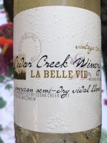 Cedar Creek Winery - American Semi Dry Vidal Blanc - 2014
