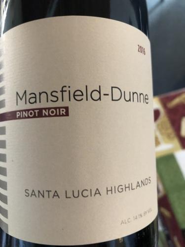 Mansfield - Dunne - Pinot Noir - 2014