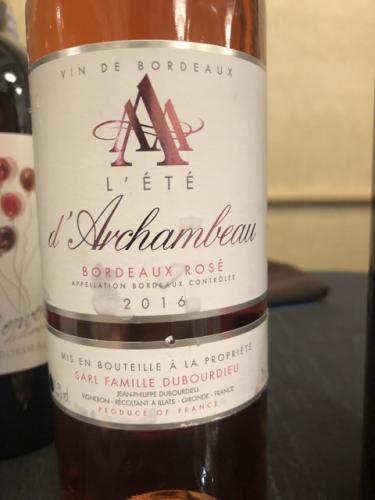 Château d'Archambeau - L'été Bordeaux Rosé - 2016