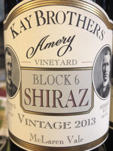 Kay Brothers - Block 6 Shiraz - 2013
