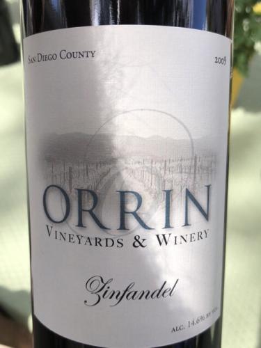 Orrin - San Diego County Zinfandel - 2009