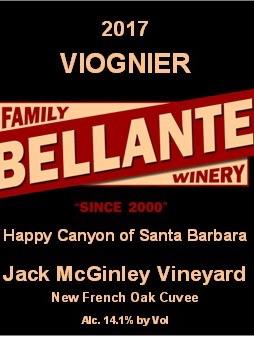 Bellante Family Winery - Viognier - Jack McGinley Vineyard (New French Cuvée) - 2017