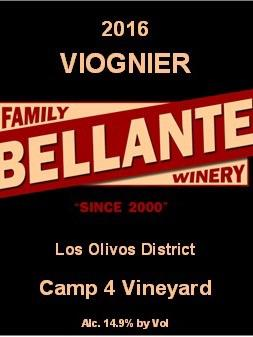Bellante Family Winery - Viognier - Camp 4 Vineyard - 2016