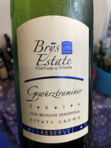 Brys Estate - Reserve Dry Riesling - 2016