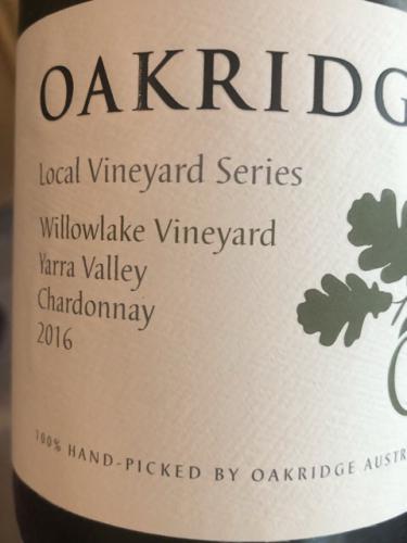 Oakridge - Local Vineyard Series Willowlake Vineyard Chardonnay - 2016