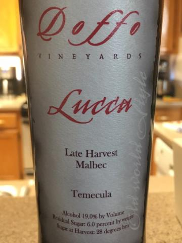 Doffo - Lucca Late Harvest Malbec Temecula - N.V.