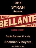Bellante Family Winery - Syrah Reserve - Shokrian Vineyard - 2015