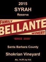 Bellante Family Winery - Syrah Reserve - Shokrian Vineyard - 2015