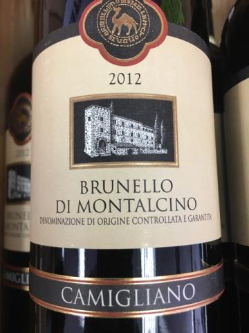 Camigliano - Brunello di Montalcino - 2012