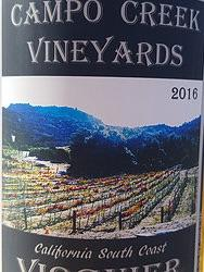Campo Creek Vineyards - Estate Viognier - 2016