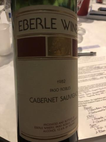 Eberle - Estate Cabernet Sauvignon - 1982