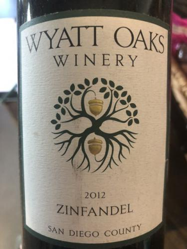 Wyatt Oaks Winery - Zinfandel - 2012