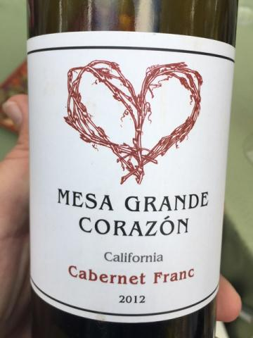 Mesa Grande Corazon - California Cabernet Franc - 2012