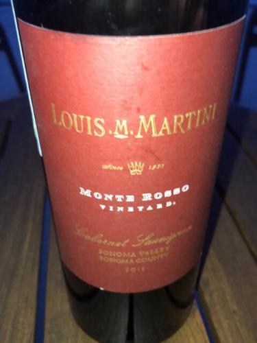 Louis M. Martini - Monte Rosso Vineyard Cabernet Sauvignon - 2013