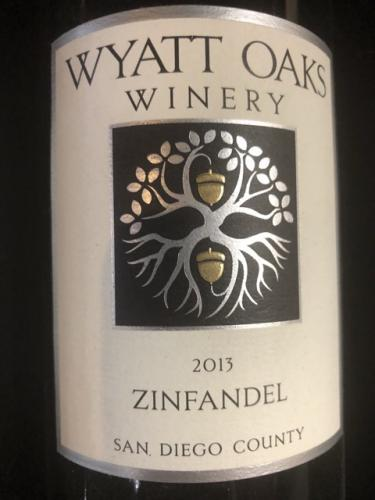 Wyatt Oaks Winery - Zinfandel - 2013