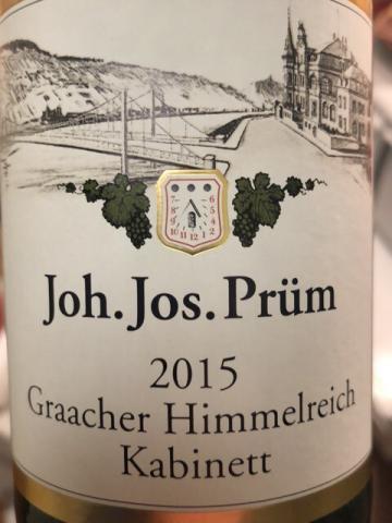 Joh. Jos. Prüm - Riesling Graacher Himmelreich Kabinett - 2015