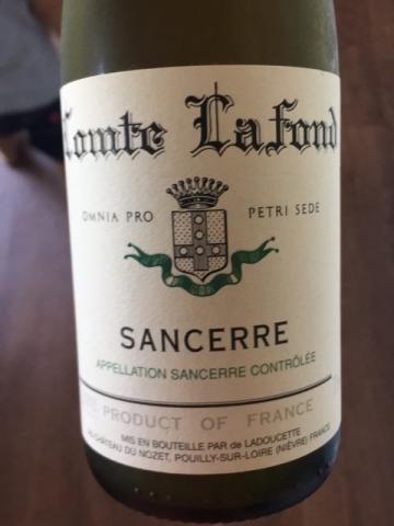 Comte Lafond - Sancerre - 2014