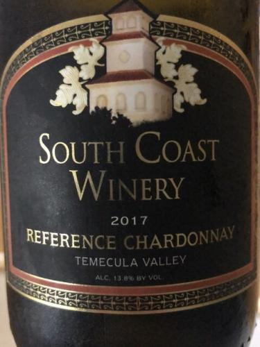South Coast Winery - Reference Chardonnay - 2017
