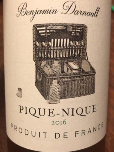 Benjamin Darnault - Pique-Nique Rosé - 2016