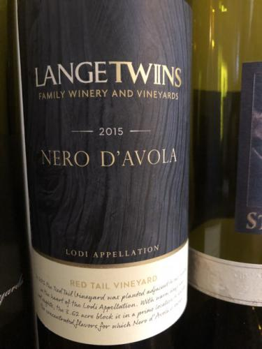 LangeTwins - Red Tail Vineyard Nero d'Avola - 2015