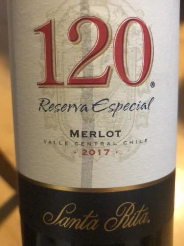 Santa Rita - 120 Reserva Especial Merlot - 2017