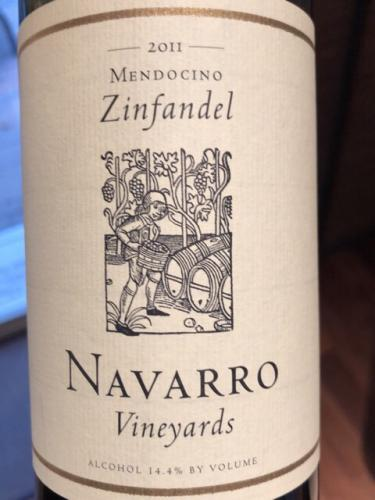 Navarro Vineyards - Zinfandel - 2011